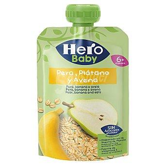 Hero Baby Bolsita de fruta (plátano y pera) y avena, a partir de 12 meses 100 g