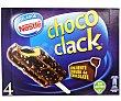 Chococlak Bombón helado de vainilla con chocolate almendrado relleno de cacao 4 unidades (360ml) Helados Nestlé