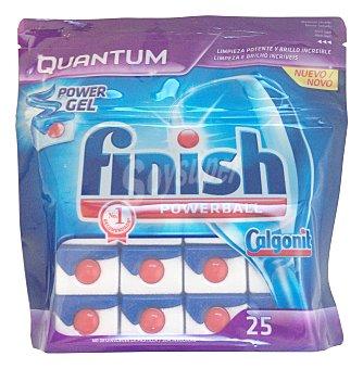 FINISH CALGONIT Detergente lavavajillas pastillas Quantum  Paquete 25 unidades