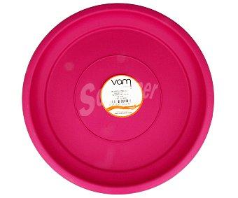 VAM Plato circular de plástico de color magenta 1 unidad