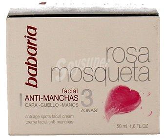 Babaria Crema antimanchas de rosa mosqueta para cara, cuello y manos 50 mililitros
