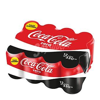 Coca-Cola Zero Refresco de cola zero 12 latas de 33 cl