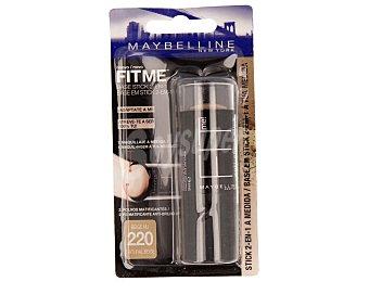 Maybelline New York Base stick 2 en 1 (maquillaje más polvos matificantes) tono nº 220 1 unidad