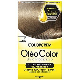 Colorcrem Tinte óleo Color Rubio Seducción nº 7 coloración permanemte sin amoniaco Caja 1 unidad