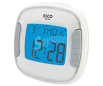 ELCO ED-93 Despertador digital de viaje con Display a color, alarma y alimentación a pilas