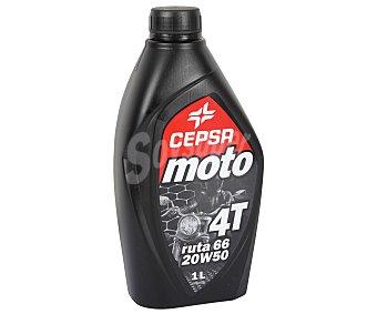 CEPSA Lubricante Mineral para Motocicletas de 4 Tiempos con SAE 20W50 1 Litro