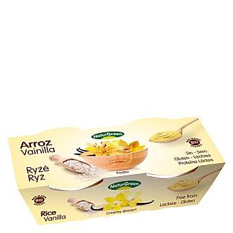 Naturgreen Postre arroz vainilla - Sin Gluten Pack de 2x125 g