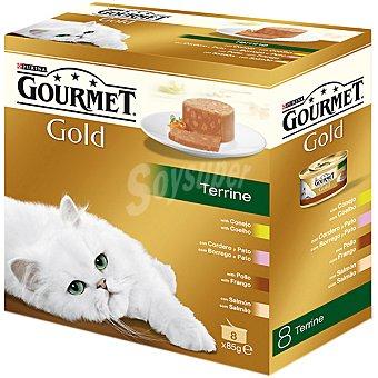GOURMET GOLD TERRINE Surtido para gato  8 unidades (85 g)