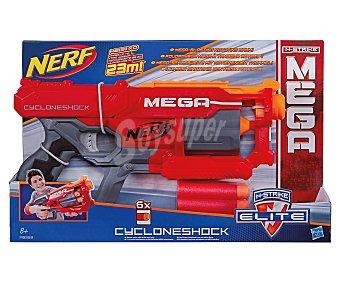 NERF Pistola lanzadora de dardos de foam con tambor giratorio y mega potencia,mega Cycloneshock 1 unidad