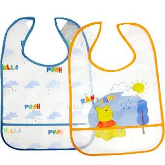 DISNEY Winnie Pooh set de 2 baberos para comia