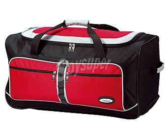 BENZI Bolsa de viaje multibolsillos con ruedas, color rojo y negro Unidad