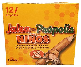DELIPLUS Ampollas propolis + jalea real (niños + 4 años) Caja de 12 unidades