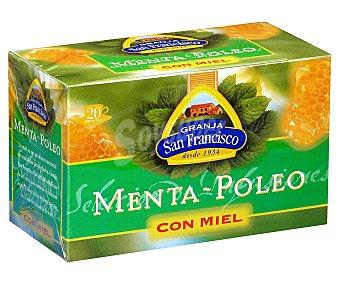 Granja San Francisco Menta poleo con miel 20 unidades