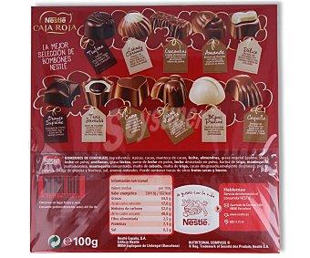 Nestlé Surtido de bombones caja roja DE 100 gramos