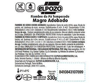 ElPozo Magro adobado, bajo en grasa y sin gluten ni lactosa 330 gr