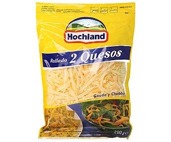 Hochland Rallados Queso rallado 2 quesos 200 Gramos