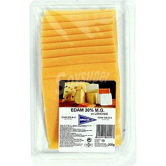 Hipercor Queso edam 30% materia grasa en lonchas Envase 200 g