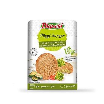 Diquesí Hamburguesas veganas de calabacín y quinoa Bandeja 200 gr