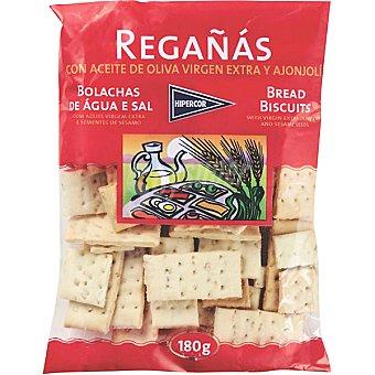 Hipercor regañas de pan con aceite de oliva virgen y ajonjolí  bolsa 180 g