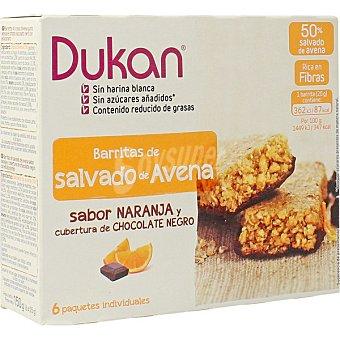 Dieta Dunkan Barritas de salvado de avena sabor naranja con chocolate 6 unidades envase 150 g 6 unidades