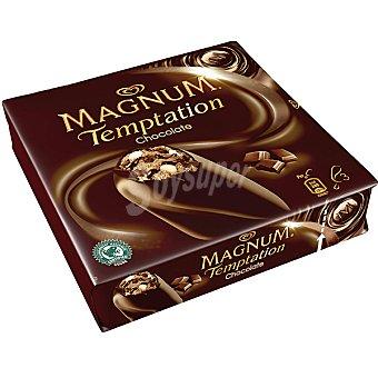 Magnum Frigo Helado de chocolate con brownie y salsa de cacao Temptation Chocolate 3 unidades estuche 240 ml 3 unidades