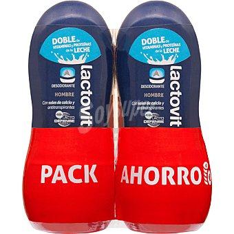 Lactovit Desodorante roll-on hombre con sales de calcio y antitranspirantes pack 2 envase 50 ml Pack 2 envase 50 ml