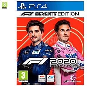 Codemasters Videojuego F1 2020 Seventy Edition para Playstation 4. Género: carreras, deportes. pegi: +3.