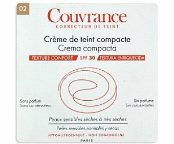 COUVRANCE Crema compacta para pieles normales y secas, Tono 2 9,5 Mililitros