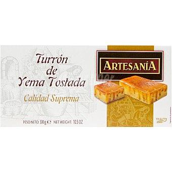 Artesania Turrón de yema tostada sin gluten Calidad Suprema Tableta 300 g