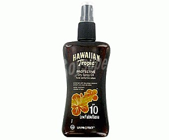 Hawaiian Tropic Aceite Bronceador en Spray , Brillante FP-10 200 Mililitros