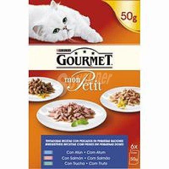 Gourmet Purina Mon Petit de pescado Pack 6x50 g