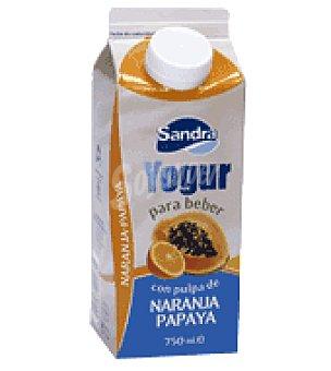 Sandra Yogur líquido con pulpa de naranja y papaya 750 g