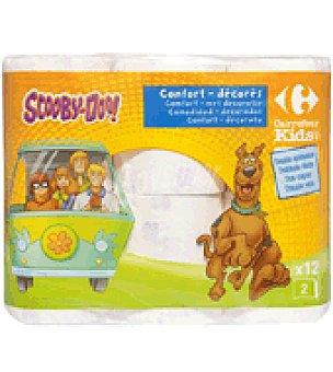 Carrefour Kids Papel higienico 2 capas 12 ud