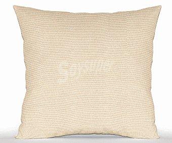 Productos Económicos Alcampo Cojín liso de loneta sin cremalleras 42x42 centímetros, color crudo 1 Unidad
