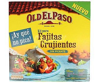 Old El Paso Kit de fajitas crujientes sin picante 521 gramos