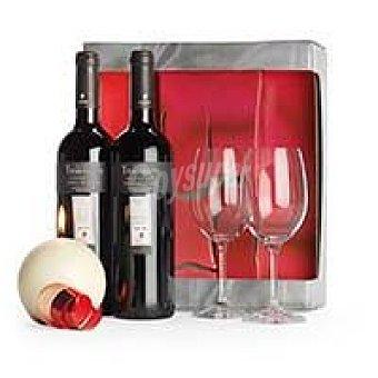 R. del Duero ALTOS de T Vino Tinto Crianza Pack 2x75 cl + Copas