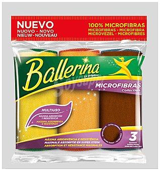 Ballerina Bayeta microfibra Paquete 3 ud