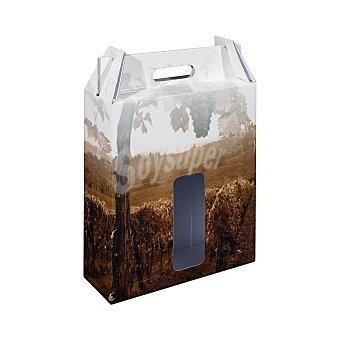 Alcograf Caja de cartón para lotes (capacidad para 3 botellas) 1 ud