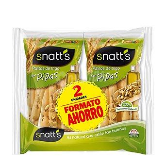 Snatt's Grefusa Palitos con pipas Pack de 2x62 g