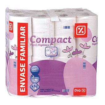 DIA Papel higiénico compacto Paquete 32 ud