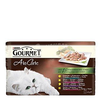 Purina Gourmet Comida para gatos 4 Estaciones Pack 4x85 gr