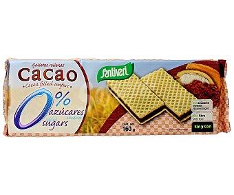 Santiveri Galletas de barquillo rellenas de cacao sin azúcares Paquete 160 g