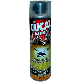 Cucal Insecticida para cucarachas barrera efecto laca permanente Spray 600 ml
