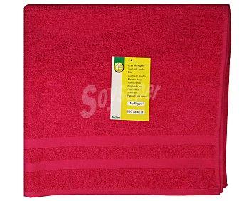 Productos Económicos Alcampo Toalla de baño color rosa fucsia, 100x130 centímetros. Toallas 100% algodón y densidad de 360 gramos/m² 1 unidad