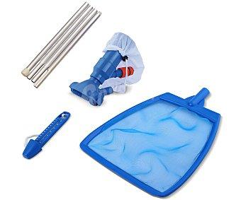 Productos Económicos Alcampo Kit de mantenimiento compuesto por 1 limpiafondos tipo venturi, 1 recogehojas de superficie, 1 pértiga para ambos y 1 termómetro 1 unidad