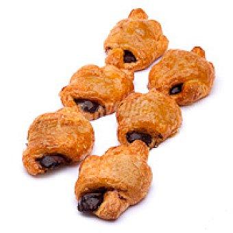 Mini croissant relleno de cacao Bandeja 8 unid