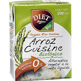 DIET RADISSON Arroz Cuisine Crema de arroz para cocinar ecológica sin lactosa Envase 200 g