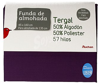 Auchan Funda tergal color morado para almoahadas de 135/150 centímetros 1 unidad