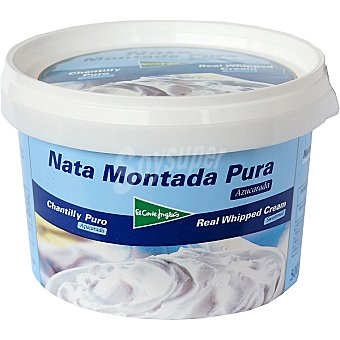 El Corte Inglés Nata montada pura Tarrina 500 ml