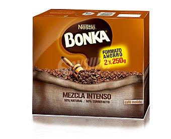 Bonka Nestlé Café molido mezcla 50/50, pack de 2 unidades de 250 gramos 2x250g